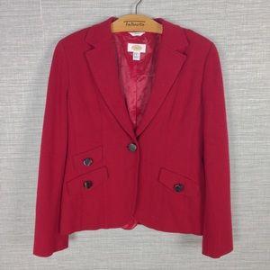 Talbots Red Wool Blend Blazer